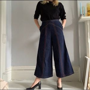 Rachel Comey Studded Wide Leg Denim Pants